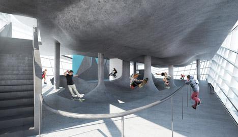 skatepark de 5 pisos