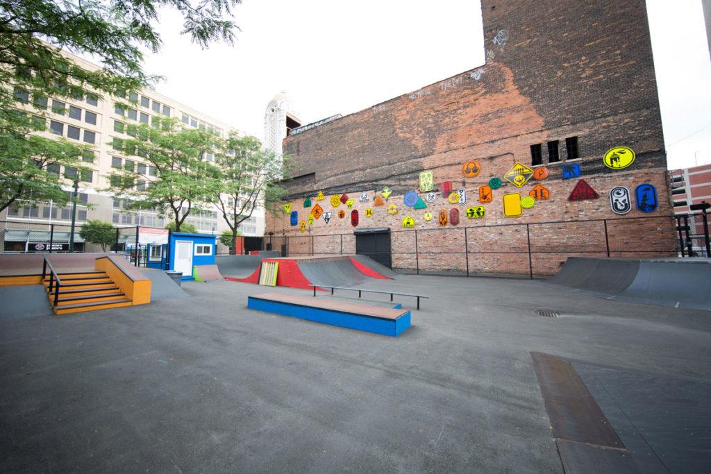 skatepark público en Detroit